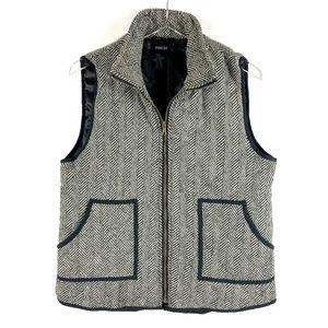 WISHLIST Herringbone Quilted Fabric Vest